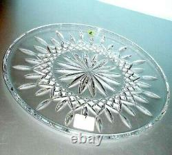 Waterford Lismore Cake Plate 12 Round Platter Tray 9969876400 New In Box