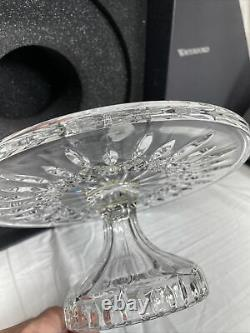 Waterford Lismore FTD Cake Plate Stand Clear Crystal with Original Box