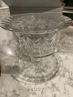 Waterford Marquis Crystal Casey 4 in 1 Convertible Cake Dome Stand & Plate NEW