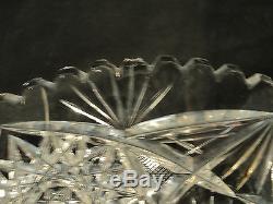 Wonderful Set/6 American Brilliant Period (abp) Cut Glass Dessert Plates