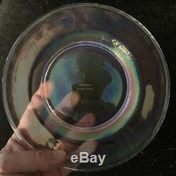 Yalos Casa Murano Glass Plates Opalescent Translucent Set of Four Salad 7 3/4